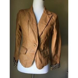 NWT Tan Leather Jacket
